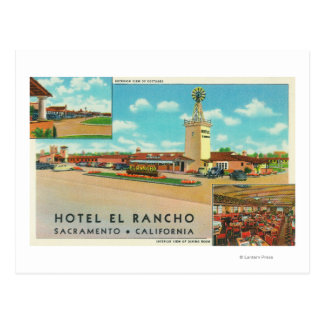 Exterior View of the Hotel el Rancho Post Cards