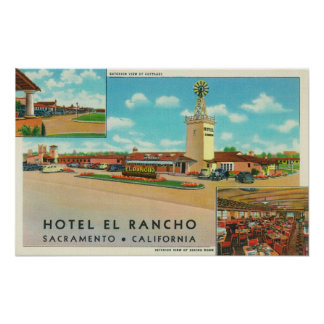 Exterior View of the Hotel el Rancho Posters