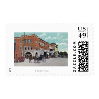 Exterior View of the Hotel JulianWoodland, CA Postage Stamp