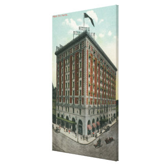 Exterior View of the Hotel Rochester Canvas Print