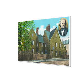 Exterior View of the House of Seven Gables 2 Canvas Prints