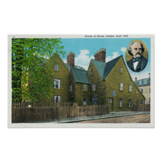 Exterior View of the House of Seven Gables 2 Print