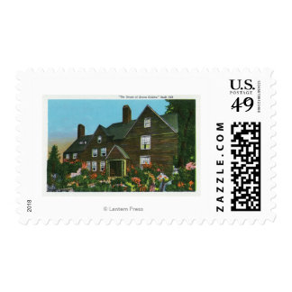 Exterior View of the House of Seven Gables Postage