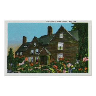 Exterior View of the House of Seven Gables Posters