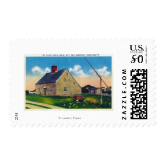 Exterior View of the Jethro Coffin House Postage
