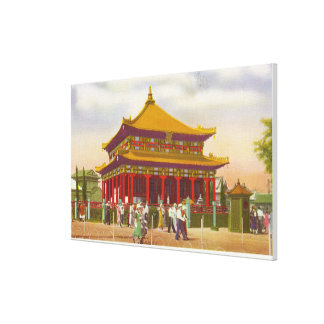 Exterior View of the Lama Temple Canvas Print