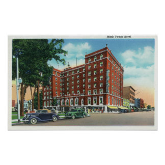 Exterior View of the Mark Twain Hotel Poster