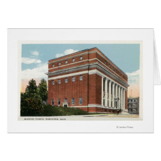 Exterior View of the Masonic Temple 2 Card