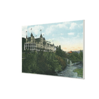 Exterior View of the Mount Pleasant Hotel 2 Stretched Canvas Print