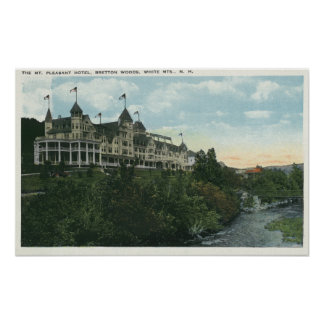Exterior View of the Mount Pleasant Hotel 2 Print