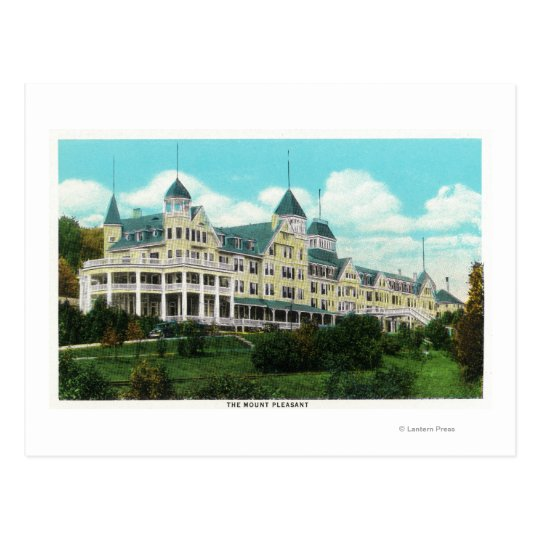 Exterior View of the Mount Pleasant Hotel Postcard