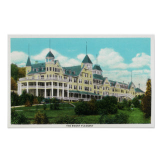 Exterior View of the Mount Pleasant Hotel Poster