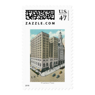 Exterior View of the National Savings Bank Postage