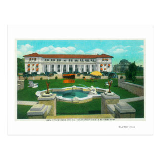 Exterior View of the New Atascadero Inn Bungalow Postcard