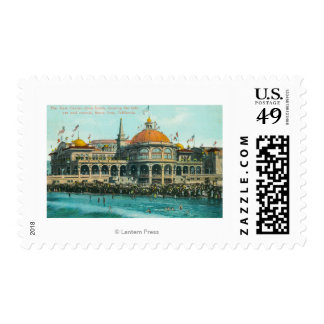 Exterior View of the New Casino from the Beach Postage Stamp