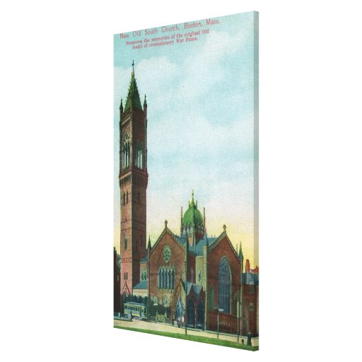 Exterior View of the New Old South Church Stretched Canvas Print
