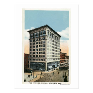 Exterior View of the New Park Building Postcard