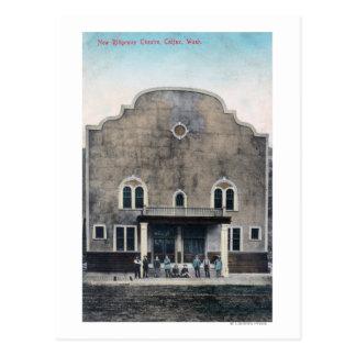 Exterior View of the New Ridgeway Theatre Postcard