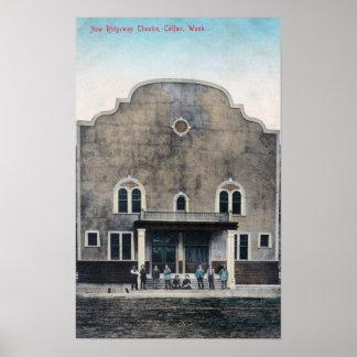Exterior View of the New Ridgeway Theatre Poster