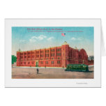 Exterior View of the New State Armory Bldg Greeting Card