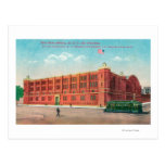 Exterior View of the New State Armory Bldg Postcard