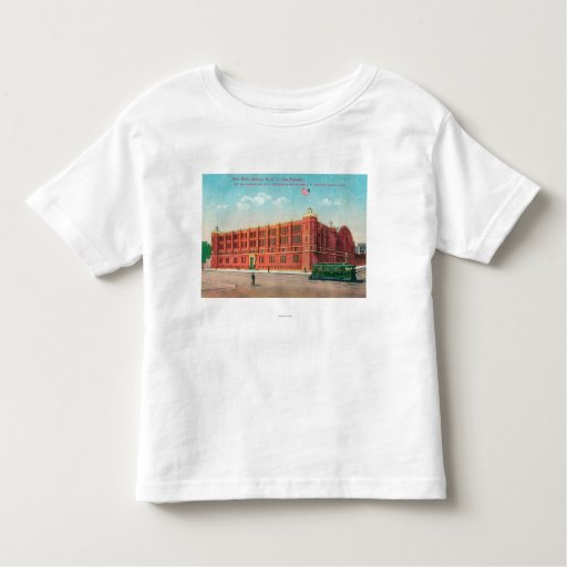Exterior View of the New State Armory Bldg Tees