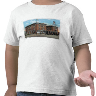 Exterior View of the New Wenatchee Hotel T Shirts