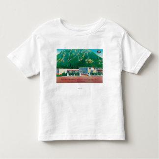 Exterior View of the North Bend Auto Court Shirts