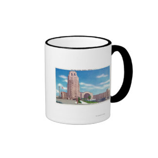 Exterior View of the NY Central Terminal Bldg Ringer Coffee Mug