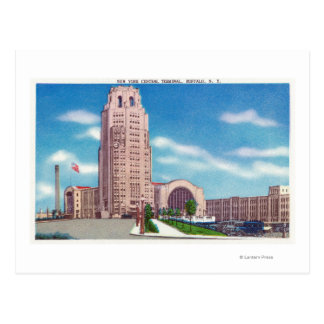 Exterior View of the NY Central Terminal Bldg Post Cards