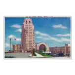 Exterior View of the NY Central Terminal Bldg Poster