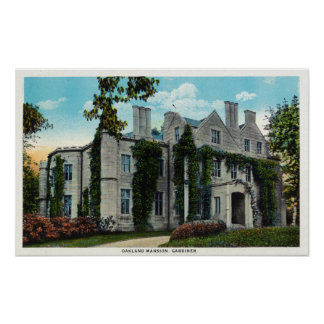 Exterior View of the Oakland Mansion Poster