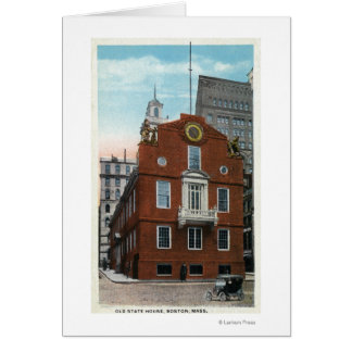 Exterior View of the Old State House # 2 Card