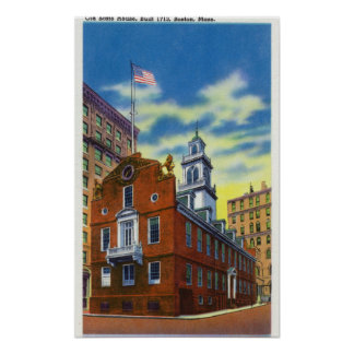 Exterior View of the Old State House Print
