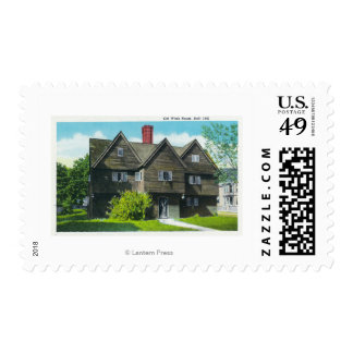 Exterior View of the Old Witch House Postage