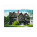 Exterior View of the Old Witch House Postcard