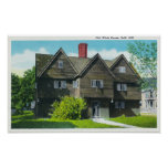 Exterior View of the Old Witch House Poster
