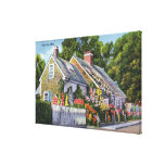 Exterior View of the Oldest House in Town Canvas Print