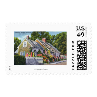 Exterior View of the Oldest House in Town Postage
