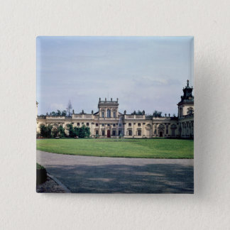 Exterior view of the palace, built c.1677 pinback button