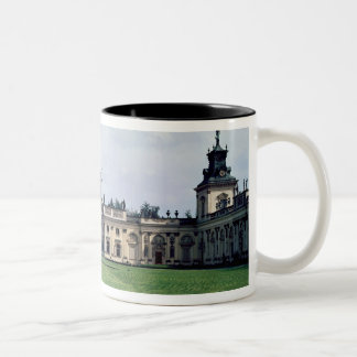 Exterior view of the palace, built c.1677 Two-Tone coffee mug