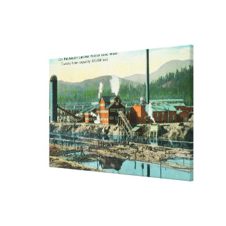 Exterior View of the Panhandle Lumber Mill Canvas Print
