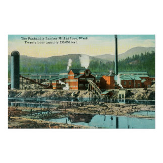Exterior View of the Panhandle Lumber Mill Poster