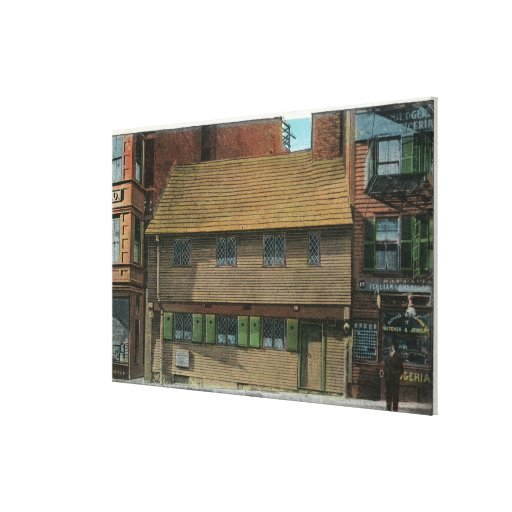 Exterior View of the Paul Revere House # 3 Canvas Print