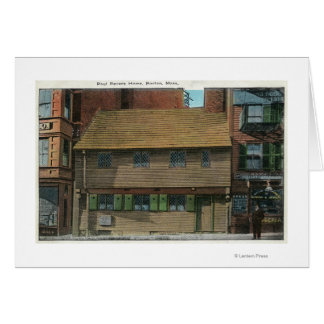 Exterior View of the Paul Revere House # 3 Card