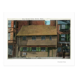 Exterior View of the Paul Revere House # 3 Postcard