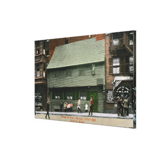Exterior View of the Paul Revere House # 4 Canvas Print