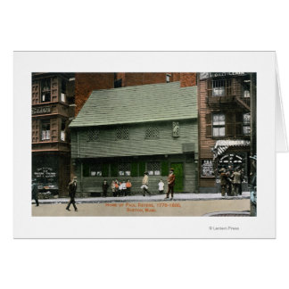 Exterior View of the Paul Revere House # 4 Card