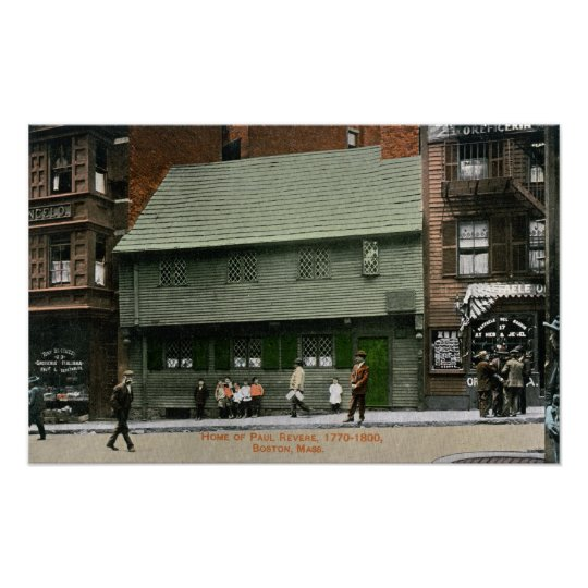 Exterior View of the Paul Revere House # 4 Poster