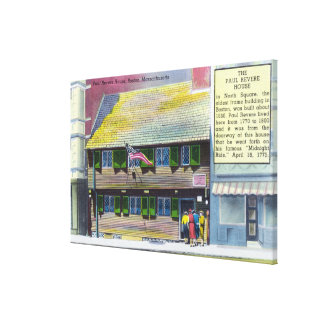 Exterior View of the Paul Revere House Stretched Canvas Prints